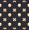 pattern with skulls seamless halloween background vector image vector image
