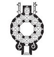 plan of cathedral at aix-la-chapelle vintage vector image vector image