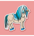 pretty horse sticker vector image vector image