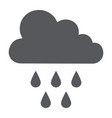 rain glyph icon weather and climate cloud with vector image vector image