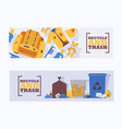 recycle waste and trash concept banners vector image vector image