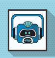 robot smart technologies artificial vector image vector image
