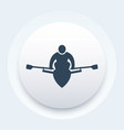 rowing rower icon vector image