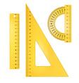 Ruler instruments vector image vector image