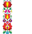 Seamless Kalocsai embroidery - Hungarian pattern vector image vector image