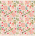 seamless pattern design with little flowers vector image vector image