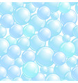 seamless pattern with soap bubbles realistic vector image vector image