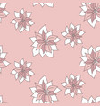 seamless tiny pink floral pattern vector image