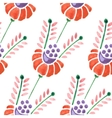 Seamless watercolor flower pattern vector image vector image