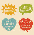 set say hello to summer in vector image vector image