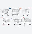 set various isolated shopping trolley vector image