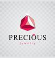 shining gemstone design element luxury diamond vector image vector image