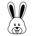 simple cartoon of a cute rabbit vector image vector image