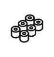 sushi icon on white background vector image