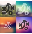 tactics icon on blurred background vector image