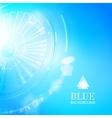 Technological background of blue cogwheel vector image vector image
