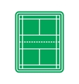 Tennis court icon vector image