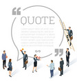 testimonials quote shape concept vector image vector image