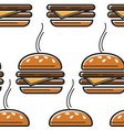 usa fast food burger seamless pattern street meal vector image vector image