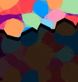 Vivid colorful polygonal background with dark vector image