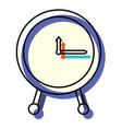 watercolor silhouette of clock icon vector image vector image