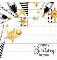 white happy birthday background vector image