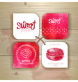 Set of sweet or dessert stickers vector image