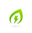 eco leaves power energy logo icon design template vector image