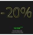 20 percent discount icon symbol Flat modern web vector image vector image