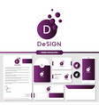 abstract design logo branding with stationery vector image