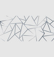 abstract silver metallic join lines on white vector image vector image