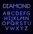 alphabet letters from diamonds vector image