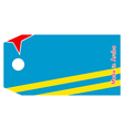 Aruba flag on price tag vector image