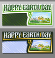 banners for earth day vector image