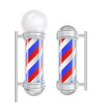 barber shop pole red blue white stripes vector image vector image