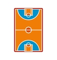 Basketball court field icon vector image vector image