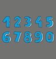 Blue numbers isolated on grey background vector image vector image