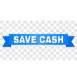 blue stripe with save cash text vector image vector image