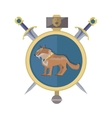 Braun Wolf in the Collar Icon in Flat vector image vector image