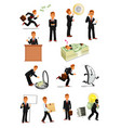businessman character set business people design vector image