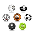 Cartoon game balls characters vector image