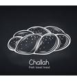 challah bread chalkboard style vector image vector image