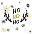 christmas template with snowflakes and deer horns vector image