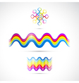 Colorful abstract shapes vector image vector image