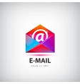 colorful mail logo icon vector image