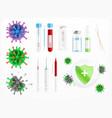 coronavirus vaccine realistic set vector image vector image