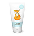 cream mochup vector image