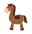 cute horse toy isolated icon vector image vector image