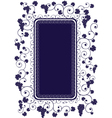 decorated grape vine vector image vector image