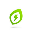 eco leaves power energy logo icon design template vector image vector image